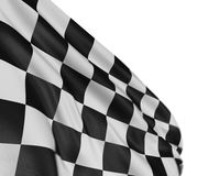 Motion Blur Checkered Flag. Large Motion Blur Checkered Flag with fabric surface texture. White background Stock Photos