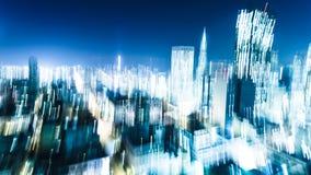 Motion Blur of City Lights Stock Photos