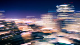 Motion Blur of City Lights Royalty Free Stock Photos