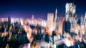 Motion Blur of City Lights Royalty Free Stock Photography