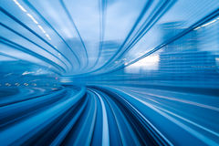 Motion blur of a city. Subway tunnel with Motion blur of a city from inside, great for your design Stock Images