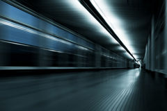 Motion blur corridor Royalty Free Stock Photos