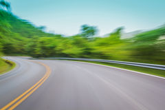 Motion blur of curve lane Royalty Free Stock Image
