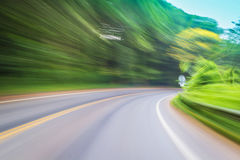 Motion blur of curve lane Royalty Free Stock Photos