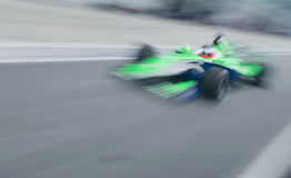Motion blur of driver Adam Carrol Royalty Free Stock Photography
