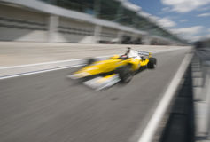 Motion blur of driver Fairuz fauzy Stock Images
