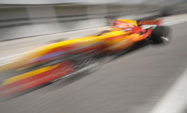 Motion blur of driver Ho Pin Tung of A1 Team China Stock Image