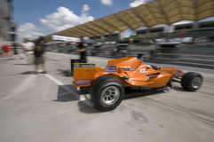 Motion blur of driver Jeroen Bleekemolen Royalty Free Stock Photo