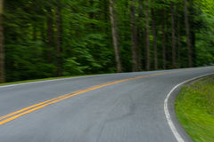 Motion Blur Driving Around Country Road Stock Photos