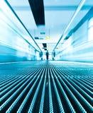 Motion blur of escalator Stock Image