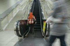 Motion Blur on Escalator Stock Photography