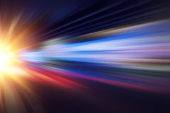 Motion blur fast business and technology background Stock Photo