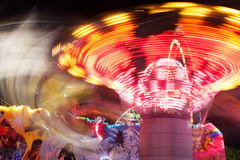 Motion Blur Of Fast Moving Carnival Ride Royalty Free Stock Photo