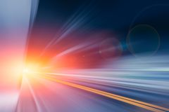 Motion blur fastest driving zoom high speed road effect. Abstract for background Stock Photo
