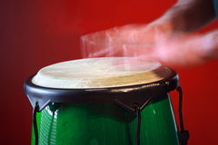 Motion blur of hands on drum Royalty Free Stock Photos