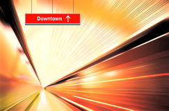 Motion blur of high speed Stock Photos