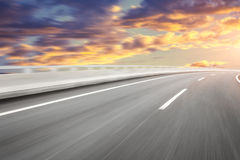 Motion blur of the highway road.  Royalty Free Stock Images