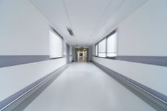 Motion Blur Hospital Corridor Stock Image