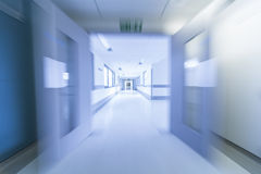 Motion Blur Hospital Corridor Stock Photos