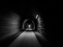Motion blur inside a tunnel Royalty Free Stock Images