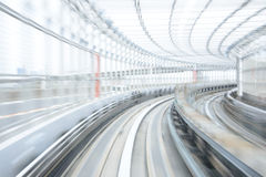 Motion blur of Japanese Railway Tunnel Royalty Free Stock Photo