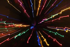 Motion blur light pattern. Stock Images