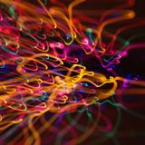 Motion blur light pattern. Stock Photo