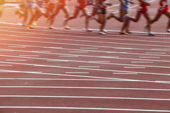 Motion blur man track and field race Royalty Free Stock Image