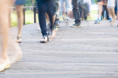 Motion blur of many people Stock Image