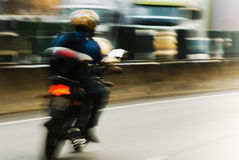 Motion blur motorcycle Royalty Free Stock Photo