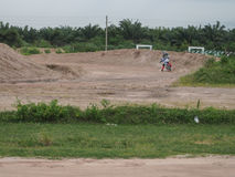Motion blur of motorcycle racing. Stock Image