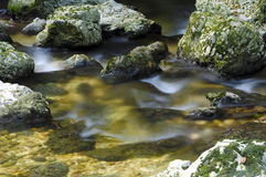 Motion blur mountain water Royalty Free Stock Images