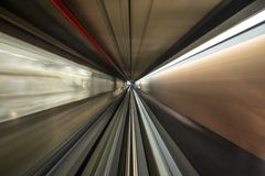 Motion Blur. In a moving tram Stock Photography