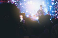 Motion blur of the musical event. Stock Photos