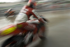 Motion Blur Of Motorbike Racer. Royalty Free Stock Photography