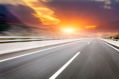 Motion Blur Of The Highway Road Stock Photo