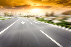 Motion Blur Of The Highway Road Royalty Free Stock Image