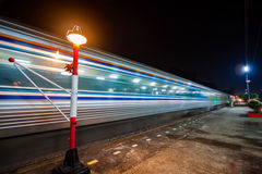 Motion blur outdoor of high speed train Stock Photography