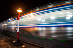 Motion blur outdoor of high speed train Stock Photo
