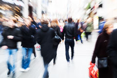 Motion blur picture of walking people Royalty Free Stock Photo