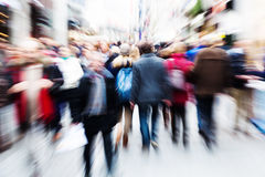 Motion blur picture of walking people Stock Image