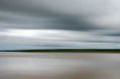 Motion blur on river. Abstract motion blur, river, nature background Stock Photos