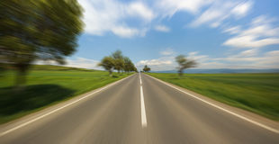 Motion blur road Royalty Free Stock Photos