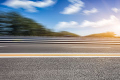 Motion blur of road Stock Photos