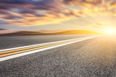 Motion blur of road Royalty Free Stock Photos