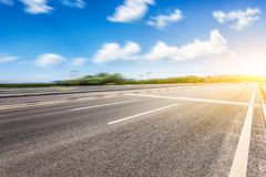 Motion blur of road Stock Photo