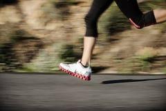 Motion blur running Stock Photo