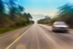 Motion blur of a rural road Stock Images