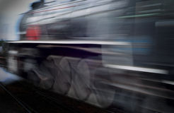 Motion blur steam train Royalty Free Stock Photos