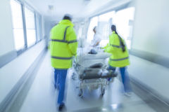Motion Blur Stretcher Gurney Child Patient Hospital Emergency Stock Photos
